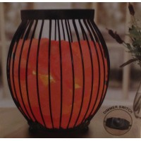 """Oval Basket with Himalayan<br /><span style=""""font-size: 12px;"""">Salt Crystal Chunks and Dimmer</span>"""